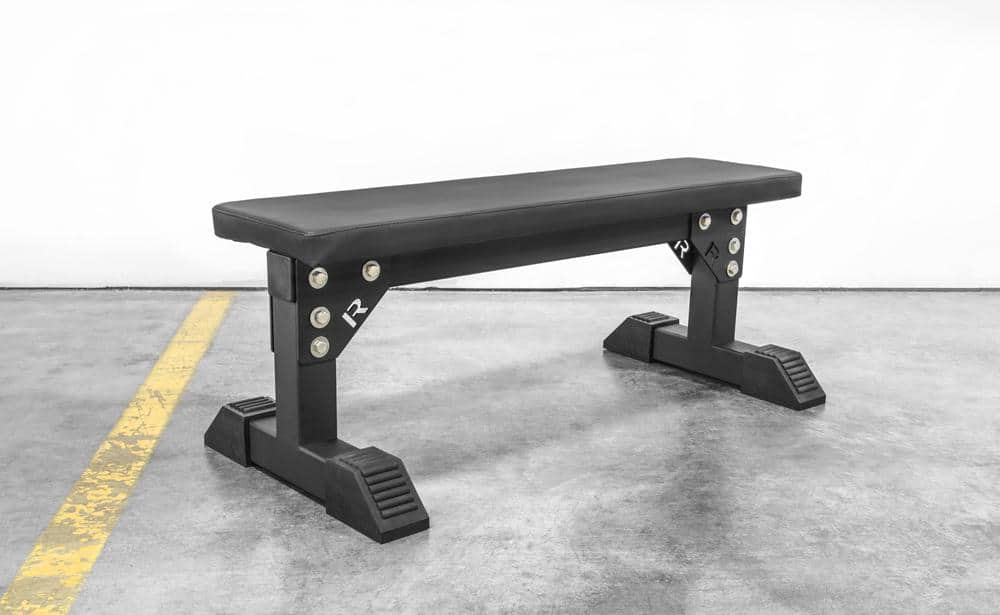 "The Monster Utility Bench is designed with an extra-wide 24"" base and a heavy-duty 3x3"" 11-gauge steel frame. Manufactured in Columbus, OH, each unit ships disassembled from our warehouse to reduce shipping costs, and comes with all necessary hardware for a quick set-up, including a set of rubber feet for added sturdiness on uneven surfaces. The overall footprint is 44"" long x 24"" wide."