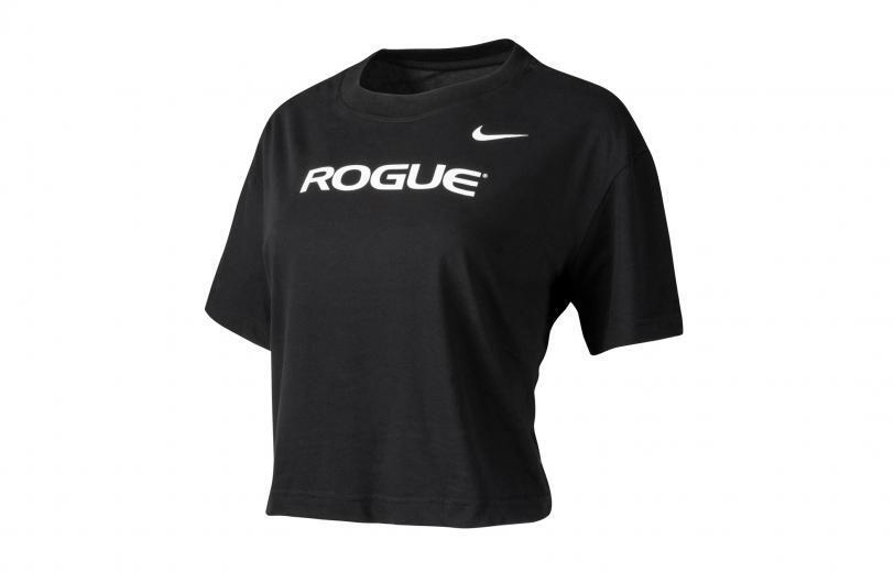 Rogue Nike Dri-Fit Crop Tee - Womens black