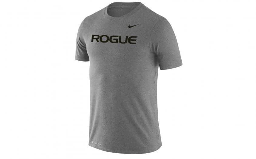 Rogue Nike Dri-Fit Legend 2.0 Tee - Mens dark gray heather full front