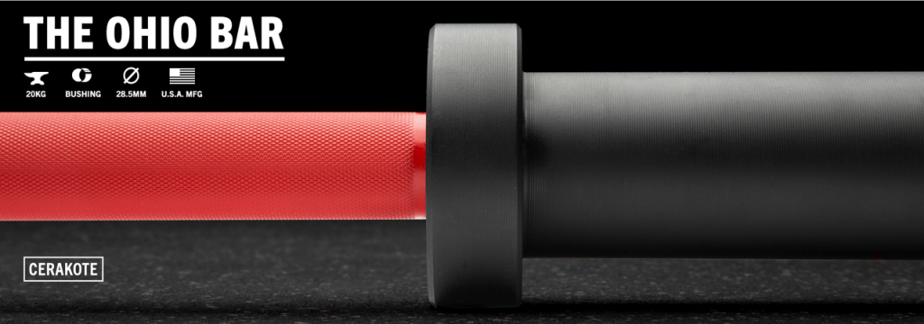 The Rogue Ohio Bar is available in a variety of cerakote finishes - shown here with red shaft and black sleeves.