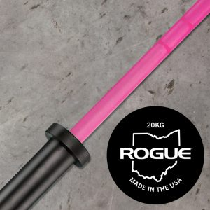Rogue Ohio Bar Cerakote - Special Pink Edition - proceeds donate to cancer research fund - Rogue Pink Barbell for Women