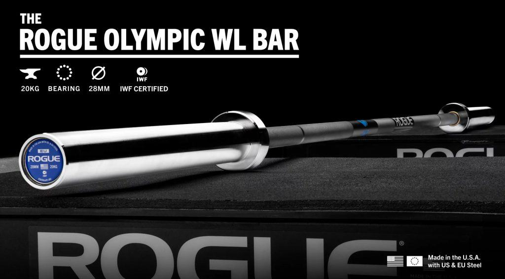 Rogue Olympic WL Bar with Cerakote - IWF Certified