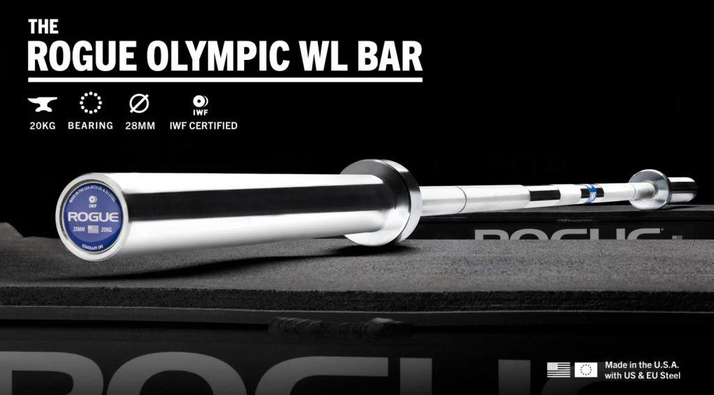 Rogue Olympic WL Bar - IWF Certified - Bright Zinc