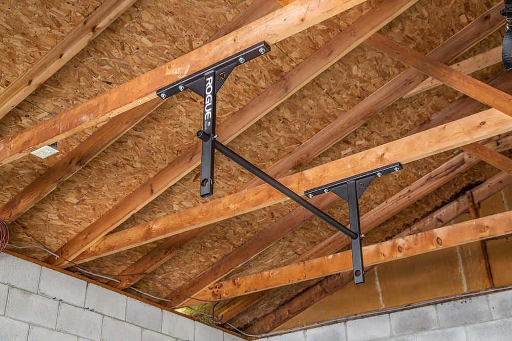 Rogue P-5V Garage Pull-Up System in the ceiling