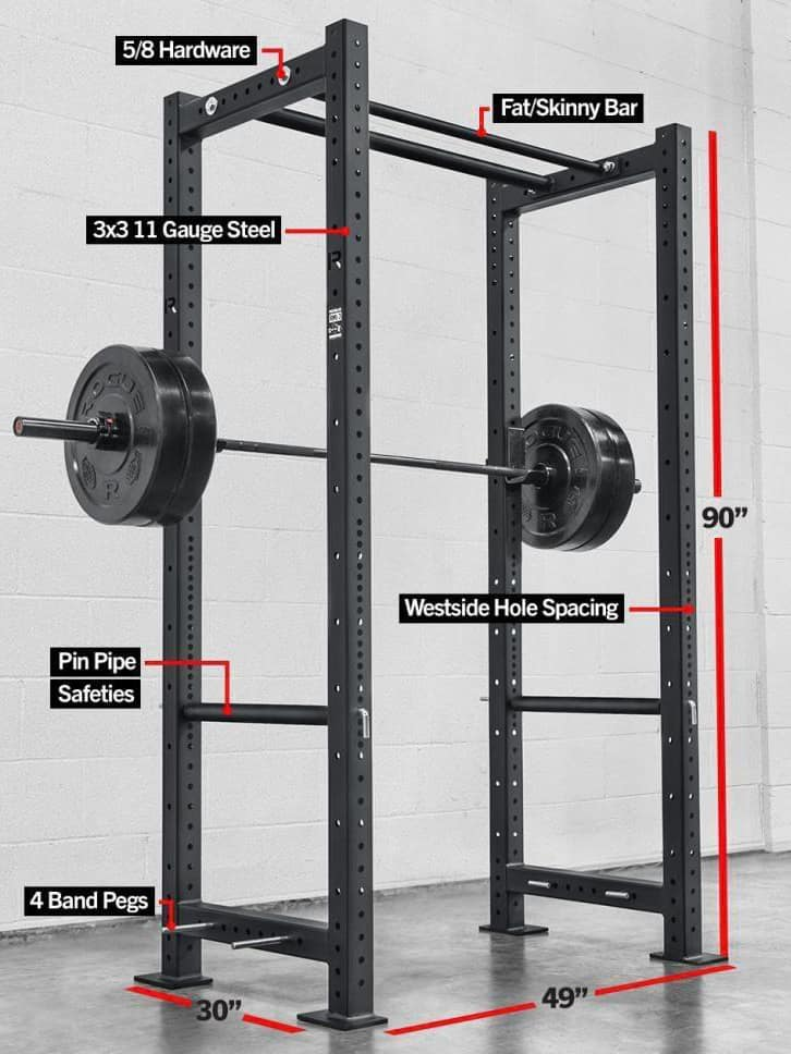 Rogue RML-3 Monster Lite Power Rack - a great option for a garage gym