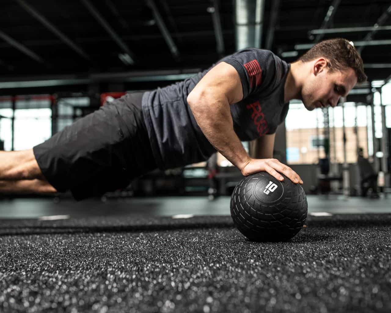 Rogue Rubber Medicine Ball push up