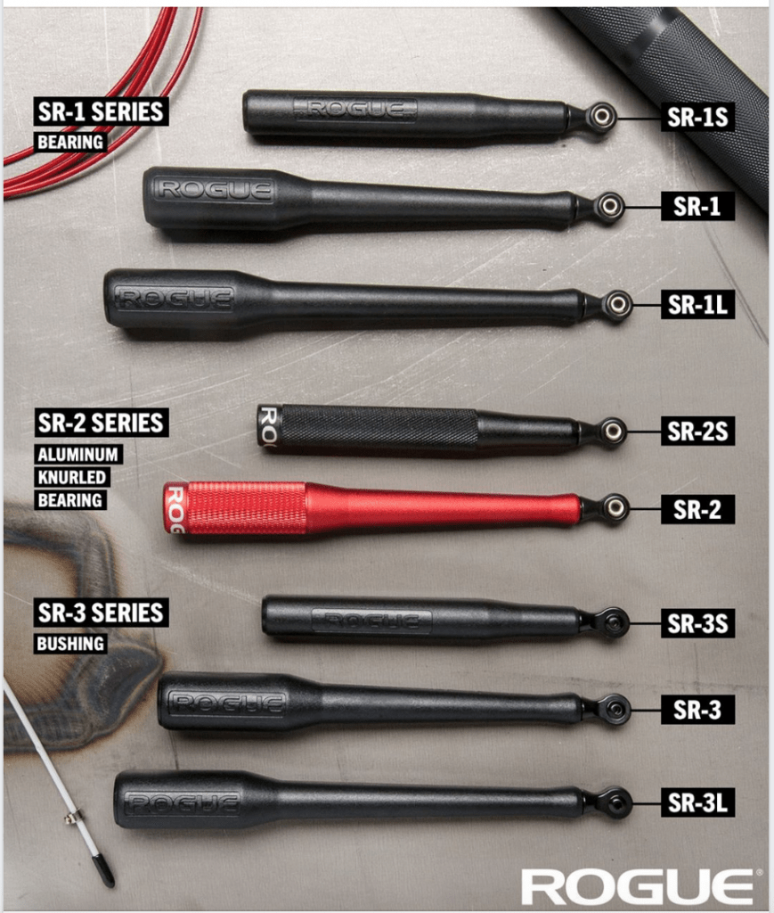 Rogue SR series speed rope handle options