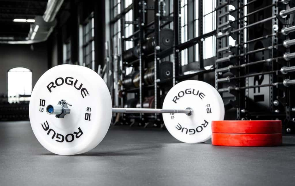 Rogue Technique Plates have the same outside diameter as standard full-size Olympic bumper plates, but in a much lighter, more manageable weight range. This enables beginner or rehabbing athletes to practice their starting movements from the proper height off the ground before transitioning to actual bumpers.