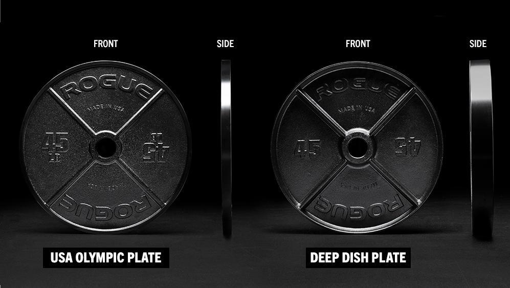 Rogue USA Olympic Plates difference