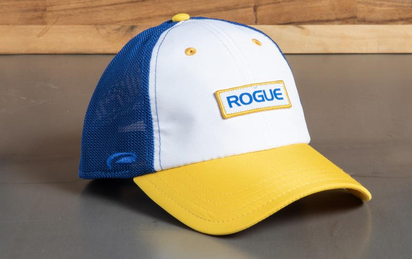 Rogue Ultrafit Trucker Hat Blue White Yellow