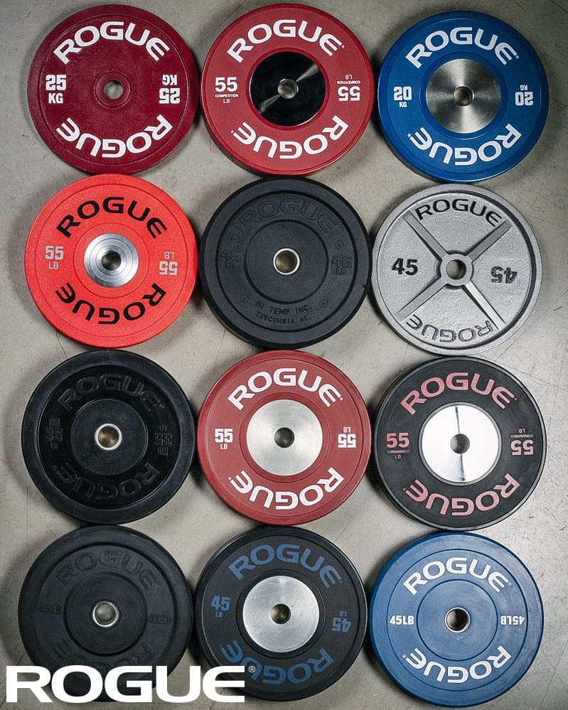 Rogue Fitness has every sort of Olympic size weight plate you may need - bumpers, training, competition, steel plates, and a variety of levels to meet any budget!