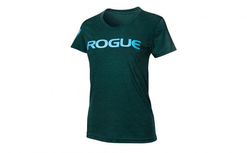 Rogue Womens Basic Shirt black aqua blue