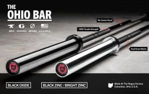 Rogue Ohio Bar - a great dual purpose bar for you garage gym - for both the powerlifts and Olympic lifts