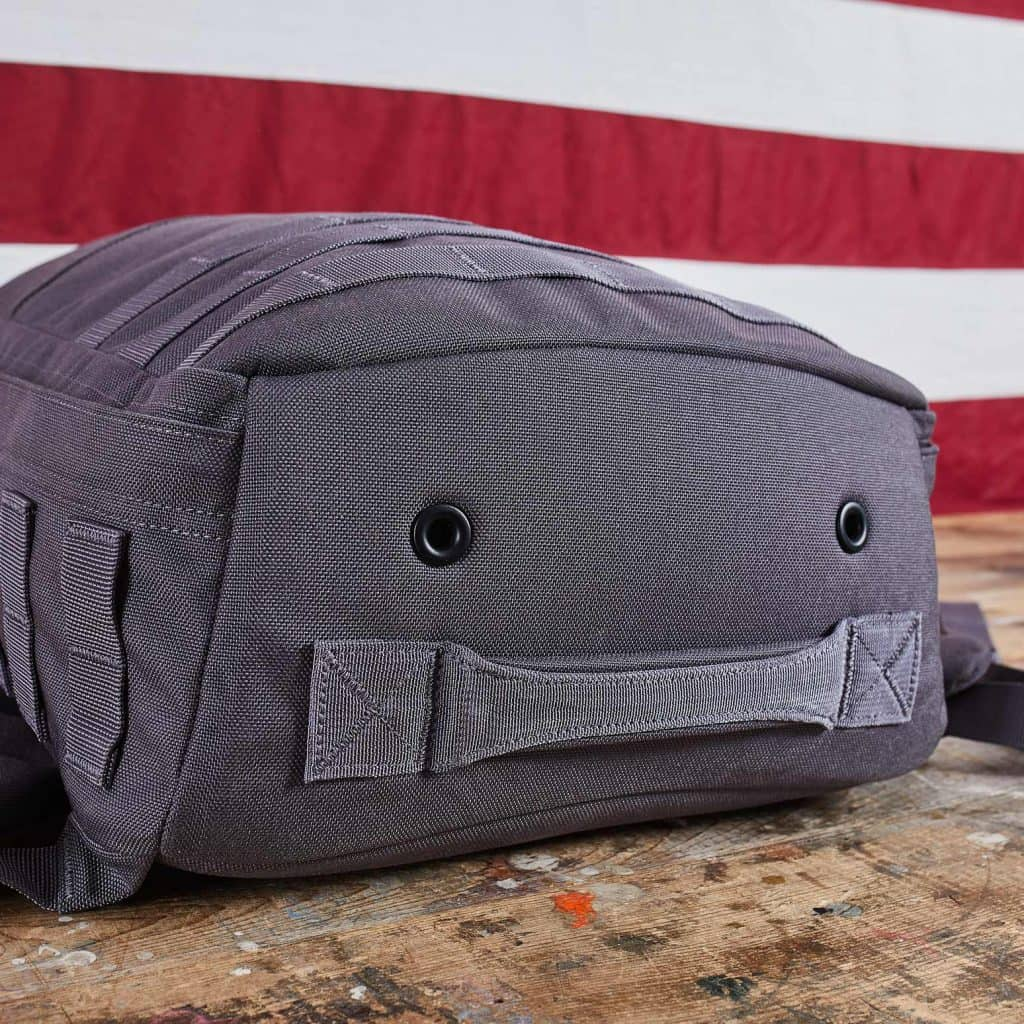 GORUCK Rucker with bottom handle and drainage grommets