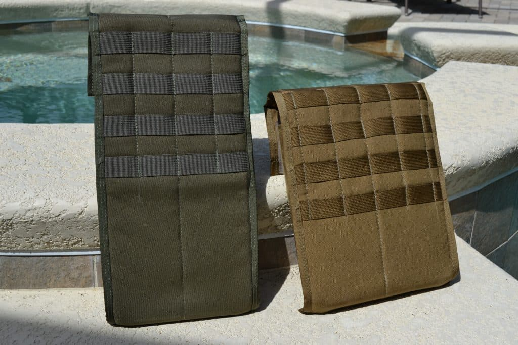 Shaddox Tactical Padded Plate Pocket - showing MOLLE webbing on the back