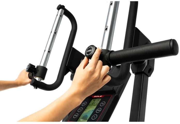 Sole CC81 Cardio Climber handle adjustment