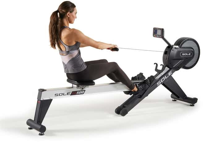 Sole SR500 Rower back view