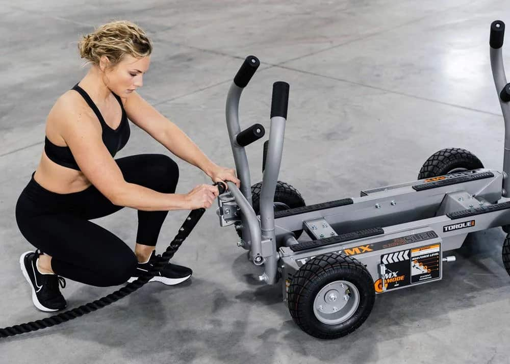 Torque Fitness Tank MX with a rope
