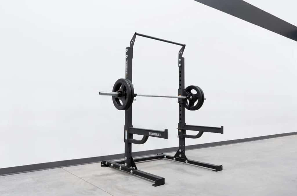 Torque USA Short Squat Rack with Pull-Up Bar with accessories