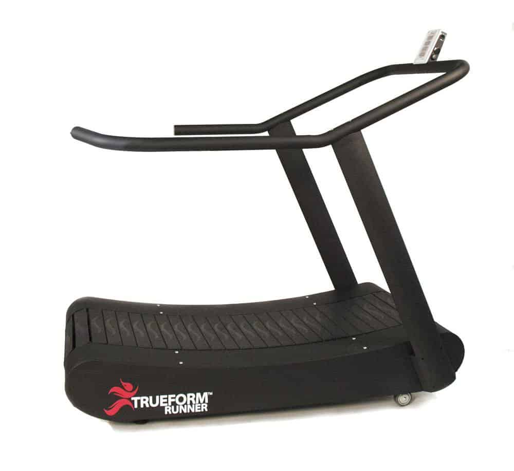Rogue Fitness also sells the TrueForm Runner curved treadmill. This is a manual treadmill like the AirRunner, but has some extra options and models available.