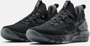 UA Project Rock 3 Training Shoe in Black / Pitch Gray / Black