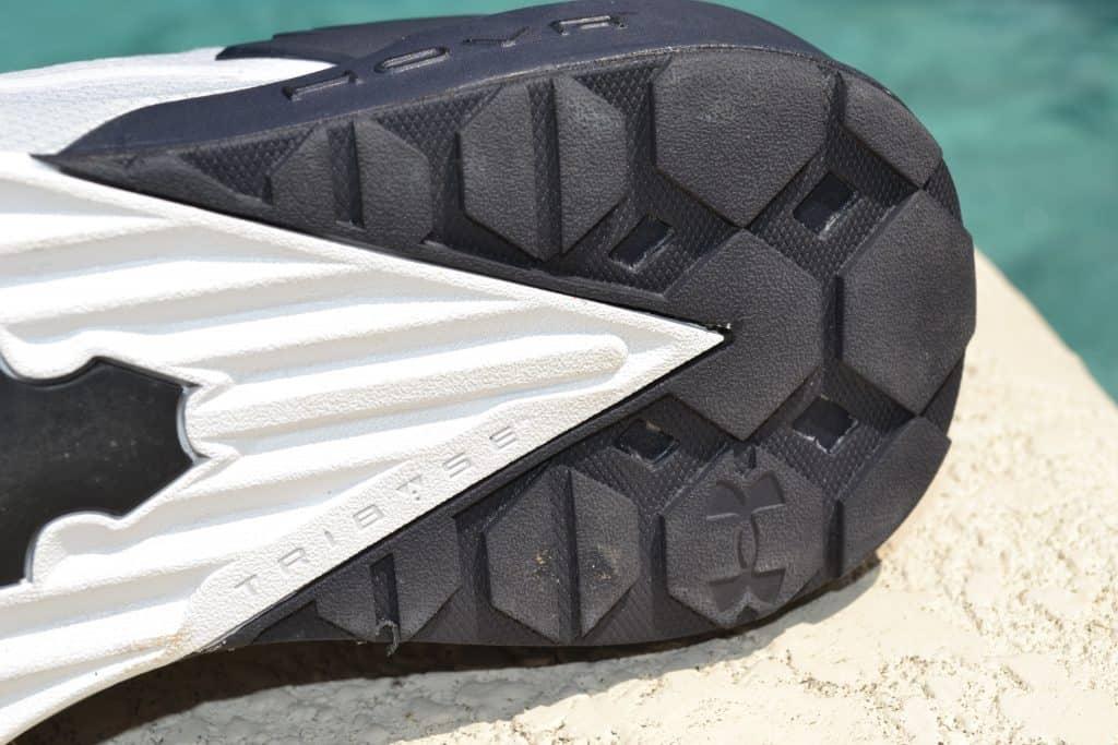 UA Project Rock 3 Training Shoe Heel Outsole