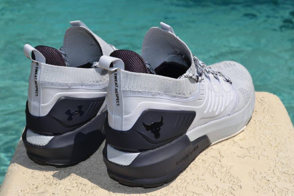 UA Project Rock 3 Training Shoe Heel View