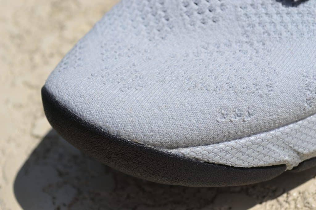 UA Project Rock 3 Training Shoe Upper Closeup 2