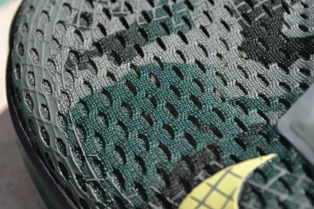 Project Rock 3 Versus Nike Metcon 6 - Closeup of upper