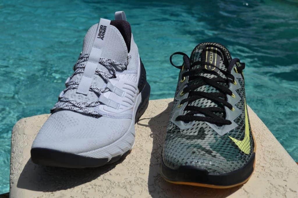 Project Rock 3 Versus Nike Metcon 6 - Rock is taller