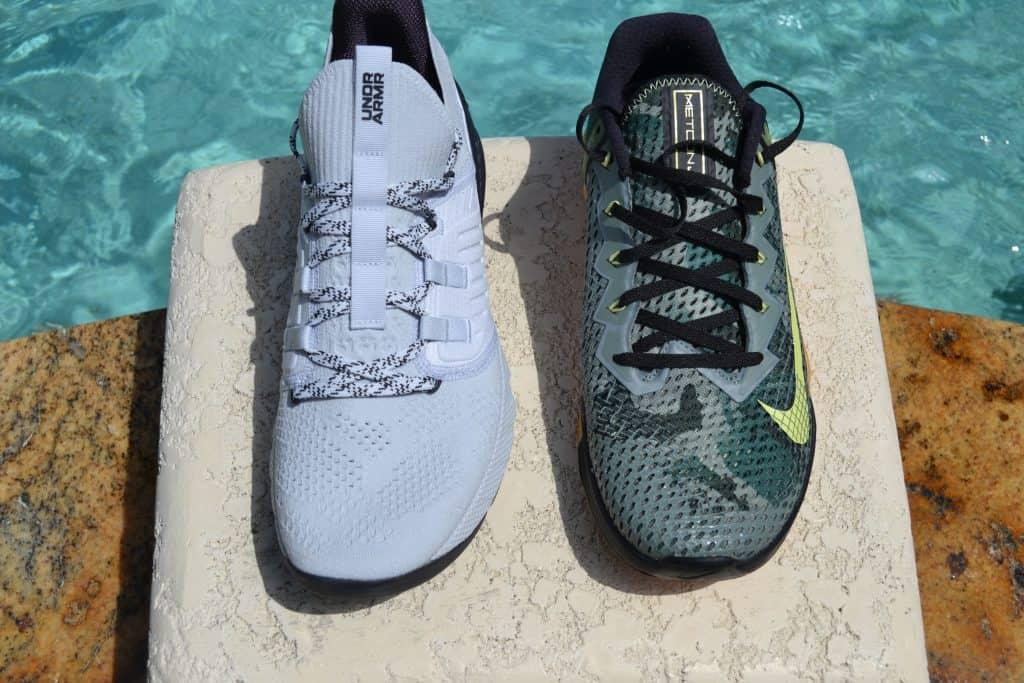 Project Rock 3 Versus Nike Metcon 6 - Rock runs short and narrow
