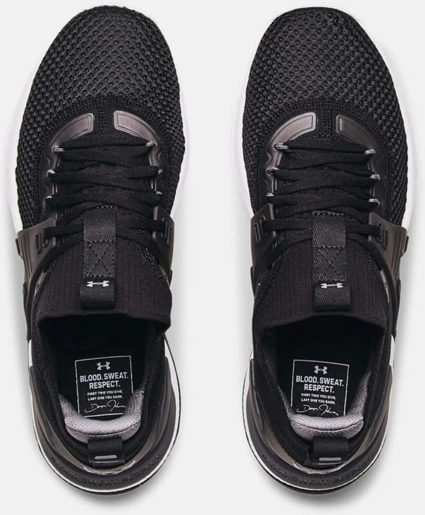 Under Armour Mens UA Project Rock 4 Training Shoes top view