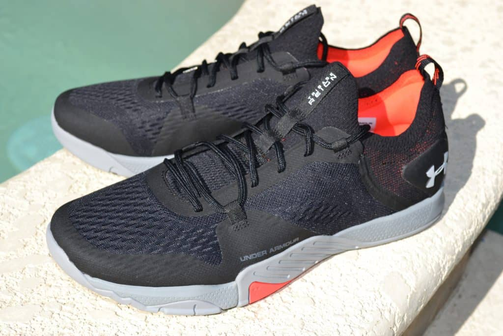 View of the Under Armour TriBase Reign 2 - new cross trainer from UA for 2020 - great for CrossFit!