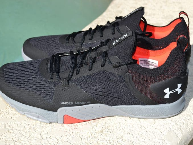 side view of Under Armour TriBase Reign 2 - new cross trainer from UA for 2020 - great for CrossFit!