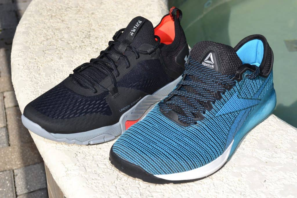 Reebok Nano 9 versus the Under Armour TriBase Reign 2 - new cross trainer from UA for 2020 - great for CrossFit!