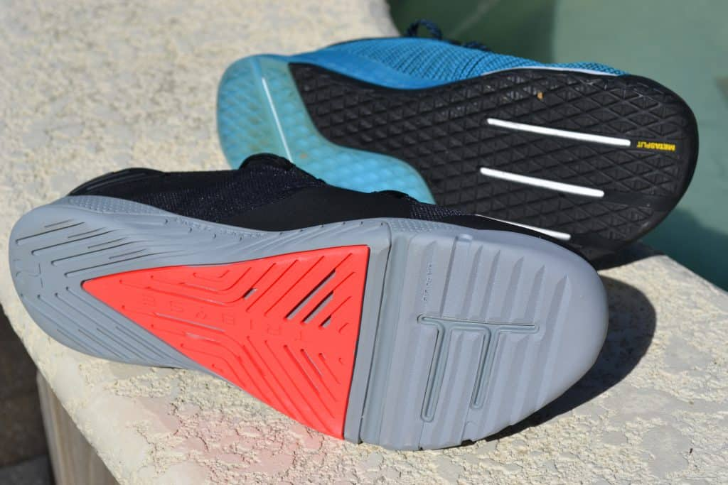 Sole comparison of the Under Armour TriBase Reign 2 - new cross trainer from UA for 2020 - great for CrossFit!
