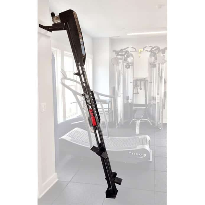 VersaClimber LX can be wall mounted