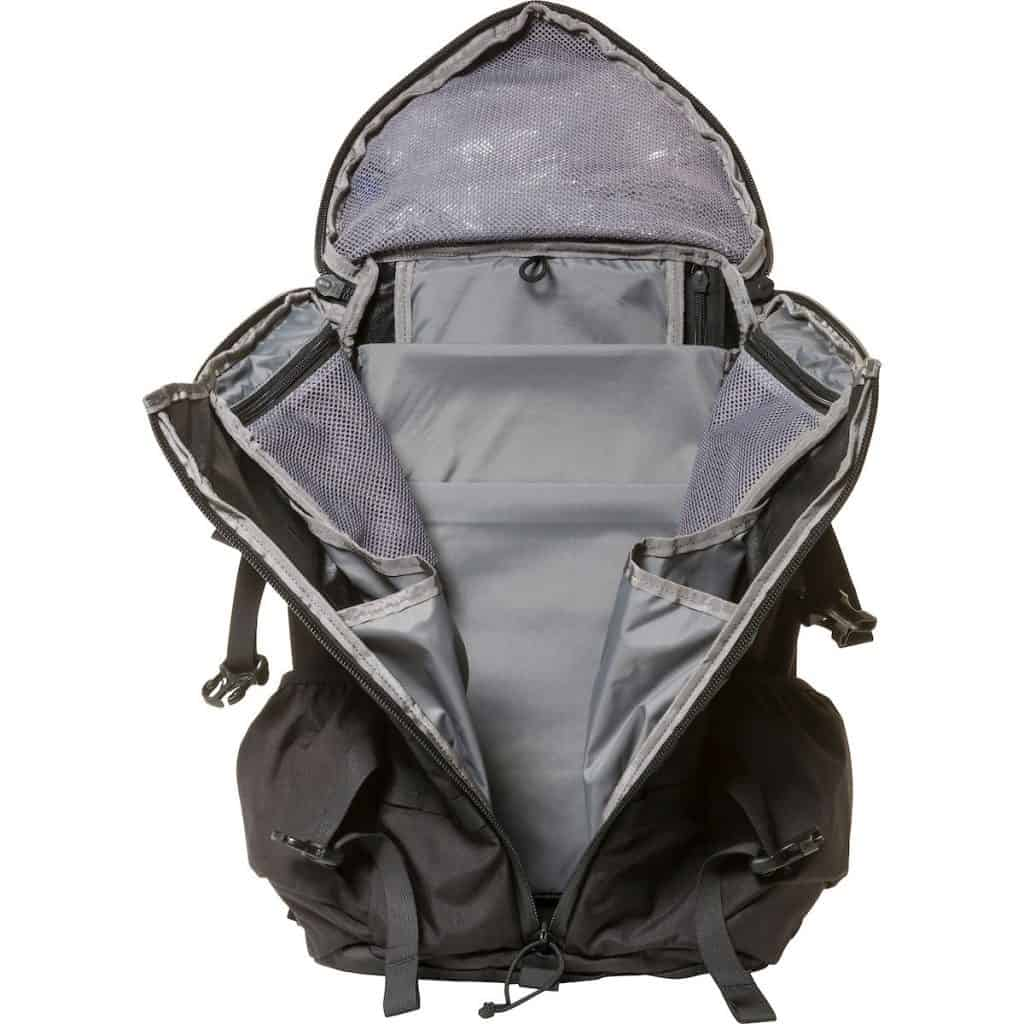 The 3-ZIP design of the Assault 2 Day Pack from Mystery Ranch means easy access to the 27L of packing capacity.
