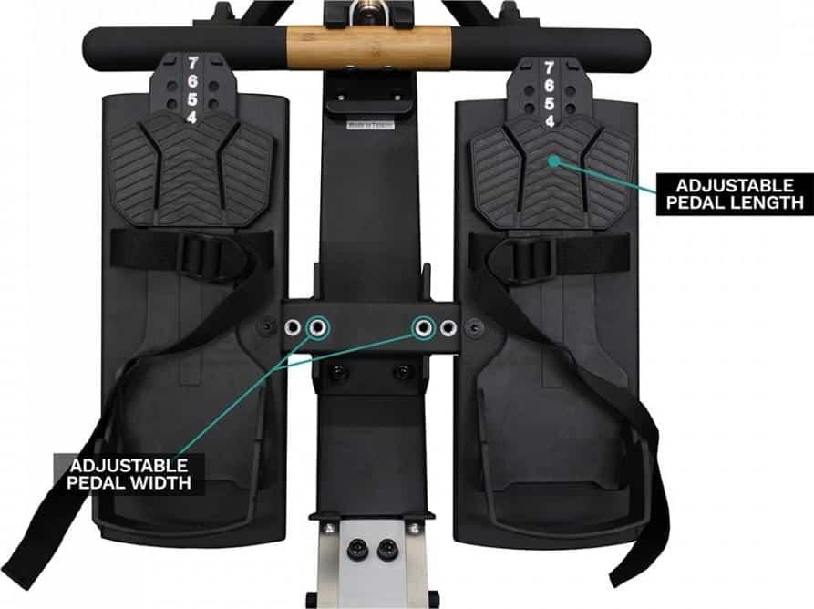 Xebex Rower 3.0 - adjustable pedals