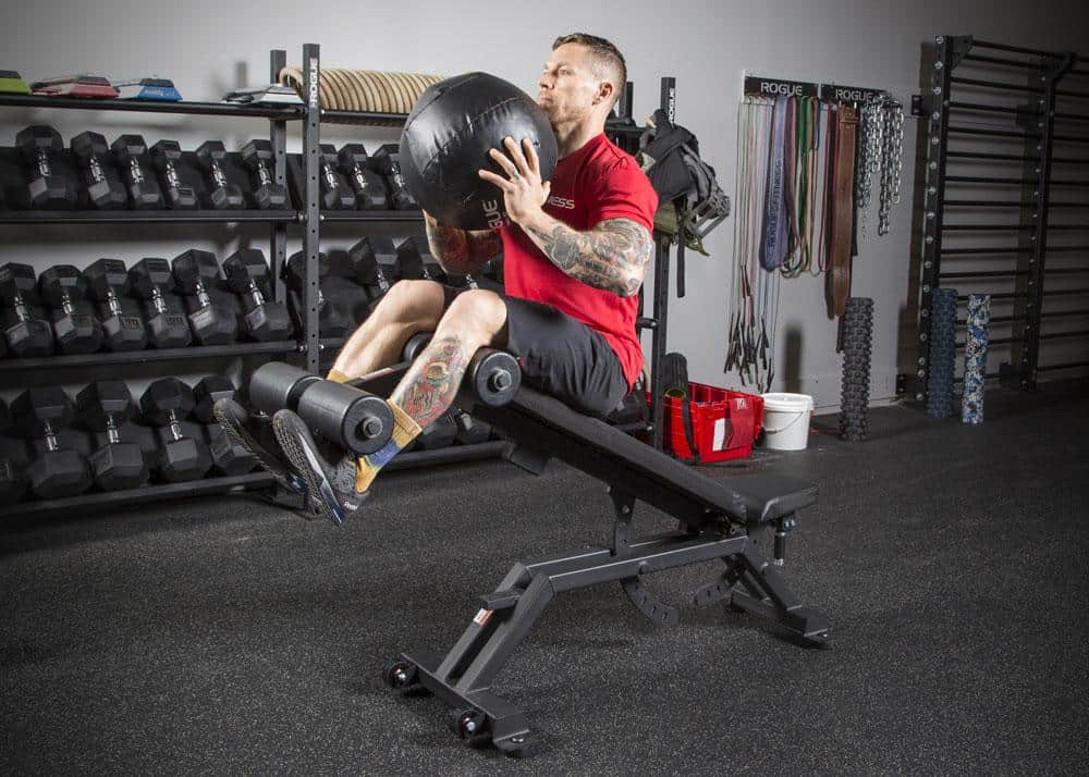 A variety of abdominal and core focused workouts can be done with a decline bench - harness the power of gravity!