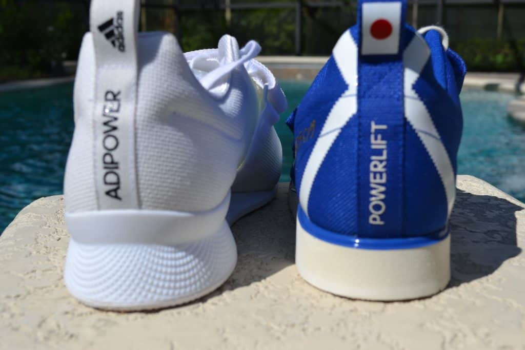 Adidas Powerlift 4 versus Adipower 2 Shoe - Heel view