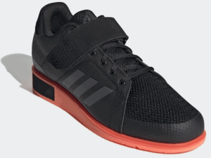 Adidas Power Perfect 3 Weightlifting Shoe - Core Black / Night Metallic / Coral