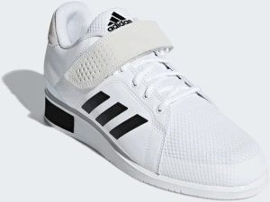 Adidas Power Perfect 3 Weightlifting Shoe - White