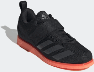 Adidas Powerlift 4 Weightlifting Shoe - Core Black / Night Metallic / Coral