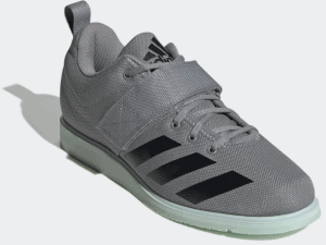 Adidas Powerlift 4 Weightlifting Shoe - Gray Three / Core Black / Green Tint