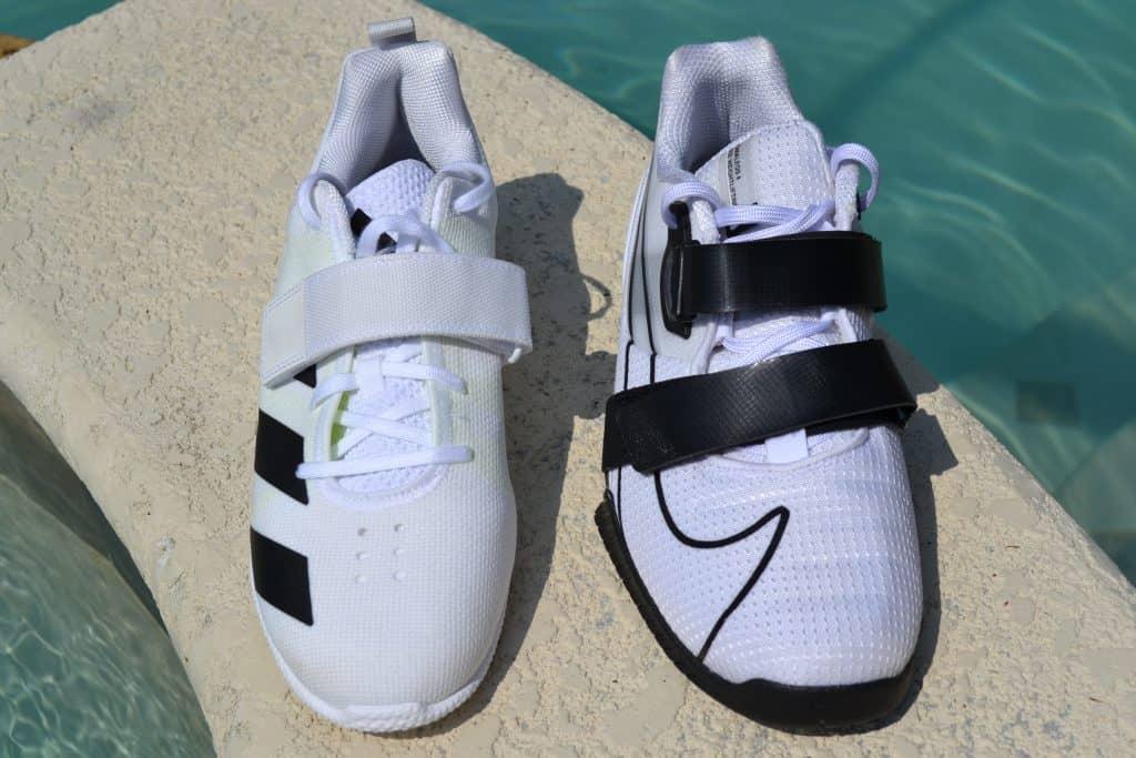 Adidas Adipower 2 versus Nike Romaleos 4 - Top View