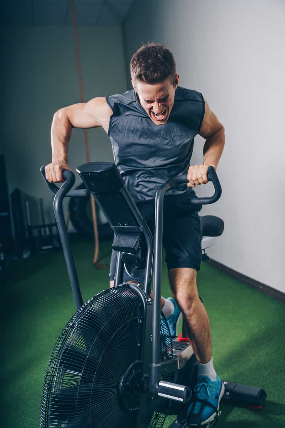 Air Bike exercise is hard, but effective.  All out sprints and intervals are all just part of this fun calorie burning workout.