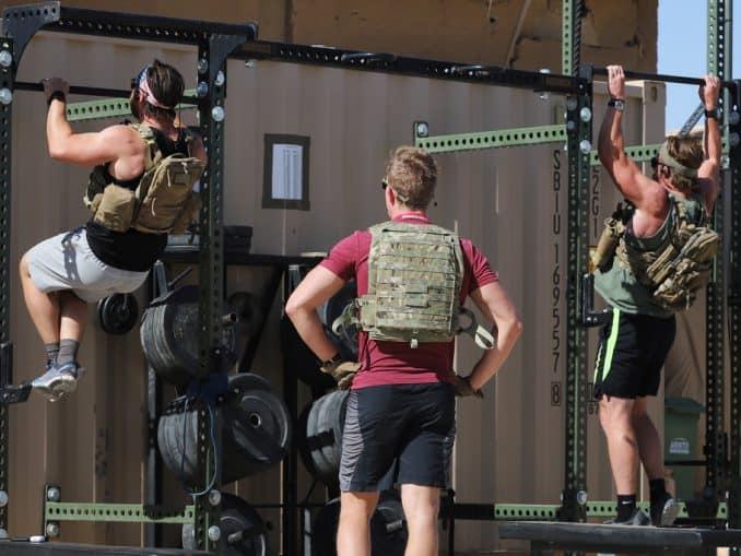 murph workout using vests