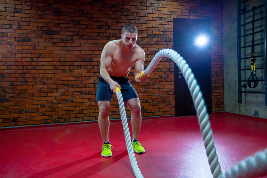 Battle ropes are a great thing to do in Tabata or HIIT style training