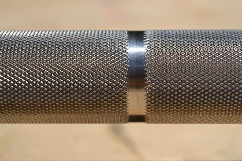 Closeup of knurl